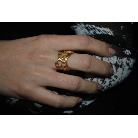 Handmade Ring gold plated silver 925 with pearl