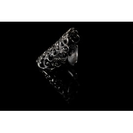 Ring Lace black platinum silver 925