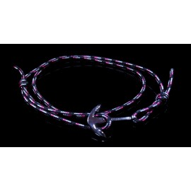 Handmade Men's anchor bracelet with climbing rope