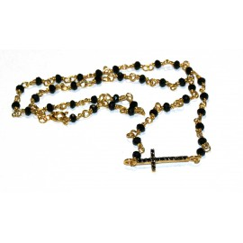 Necklace rosary with cross