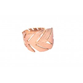Brass Cast Chevalier Ring Leaf