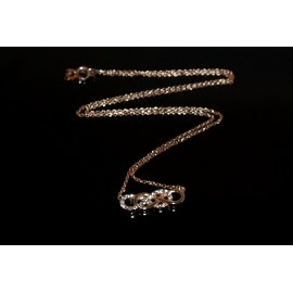 Necklace rose gold plated 925 with infinity and white Cz